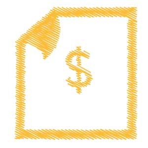 Billing Scribble Icon