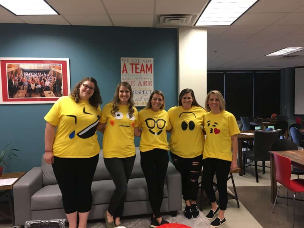 ENA customer engagement team wearing emojis