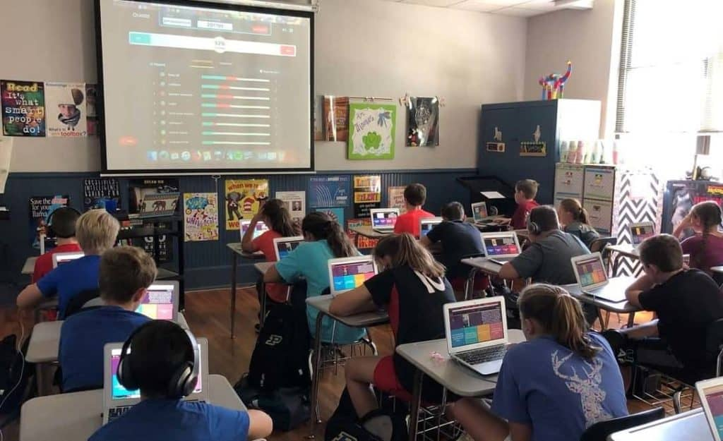 Entire Classroom With Laptops
