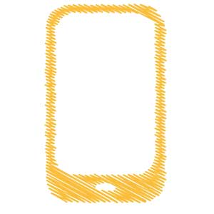 Mobile Scribble Icon