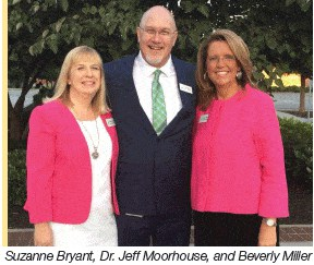Suzanne Bryant, Dr. Jeff Moorehouse, and Beverly Miller