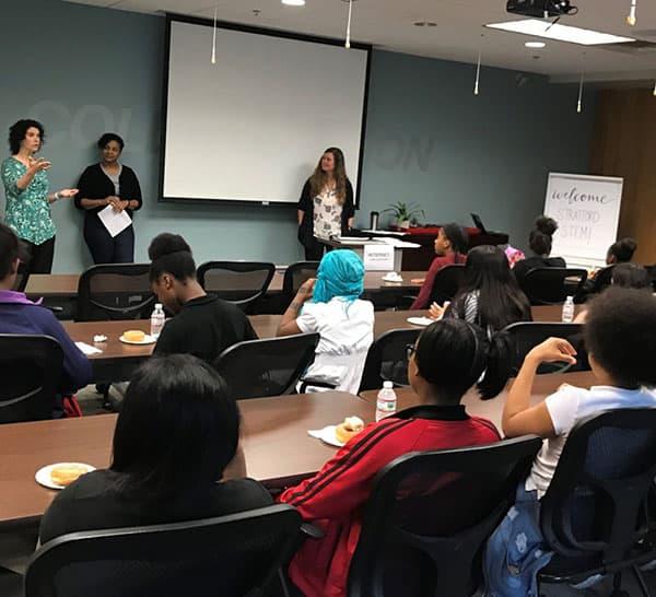 ENA speakers at Girls Who Code seminar