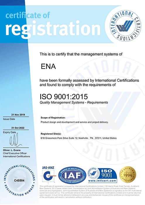 ENA ISO Cert