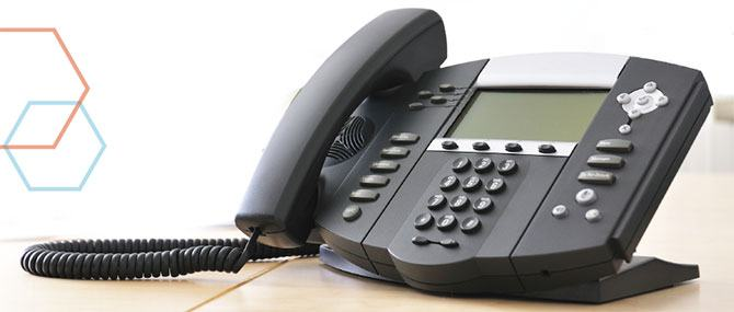 Picture of VoIP integrated phone