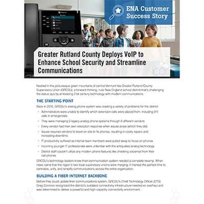 VoIP success story rutland county thumbnail