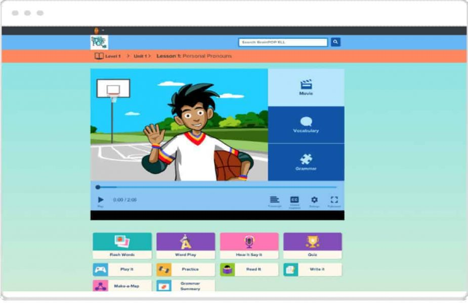 Brainpop English Language Learning Demo