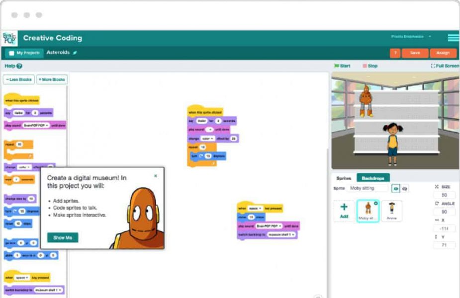 Brainpop Creative Coding Dashboard