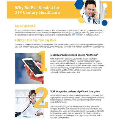 Ena Voip For 21st Century Healthcare Key Takeaways
