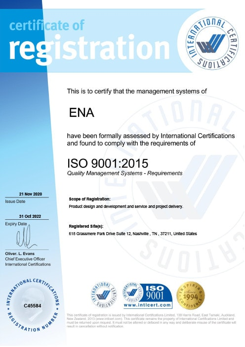 ISO Certification Image